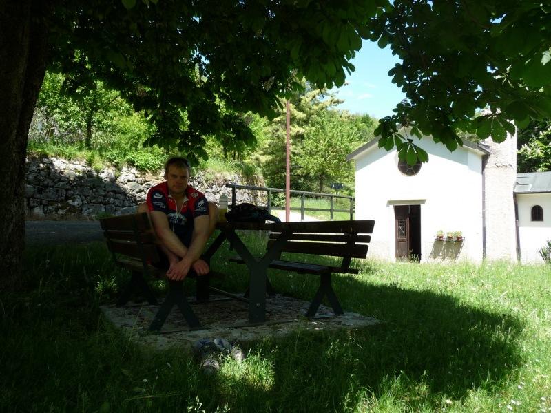 Cris having a break (Lago di Garda, Italy)