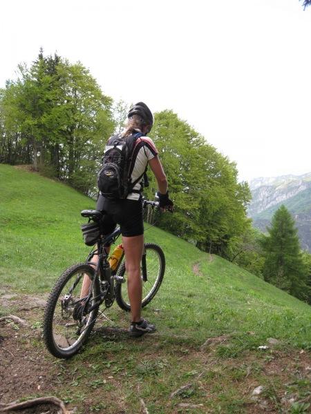 Frauke before descent (Lago di Garda, Italy)