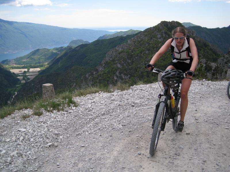 Frauke riding (Lago di Garda, Italy)