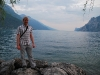 Cris beside lake (Lago di Garda, Italy)