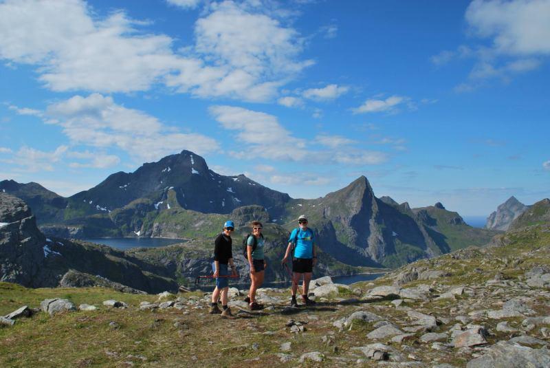 In the mountains (Lofoten, Norway)