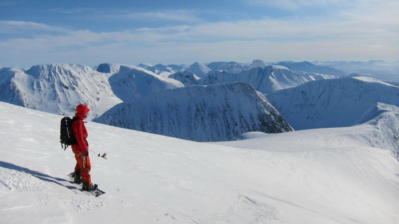Aly at the summit (Langdalstindane, Norway)