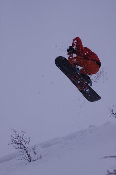 Aly lifts off (Lyngen Alps,Norway)