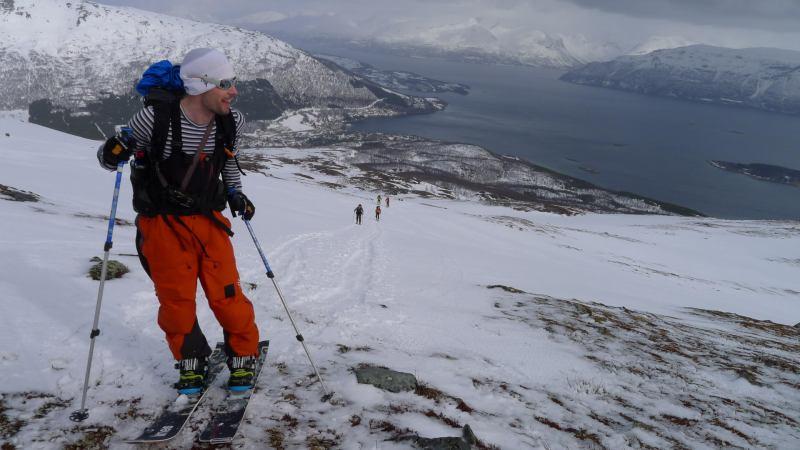 Aly with fiord behind (Rørnestinden, Norway)