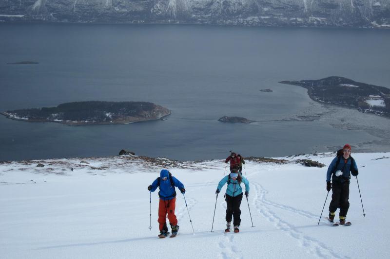 Ascending (Rørnestinden, Norway)