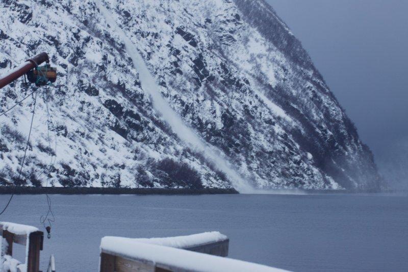 Avalanche outside the lodge (Koppangen, Norway)