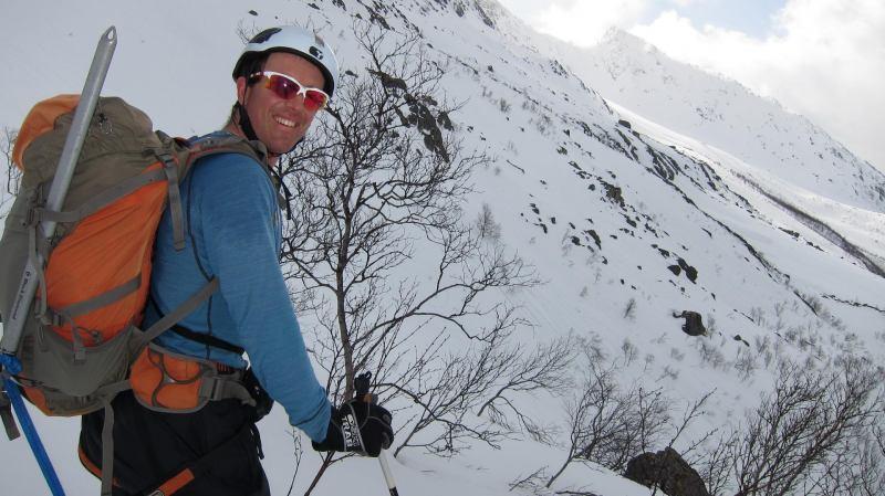 Chris in mountains (Tomesrenna, Norway)