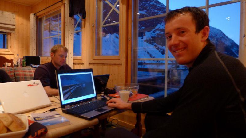Cris and Chris geeking out (Koppangen, Norway)