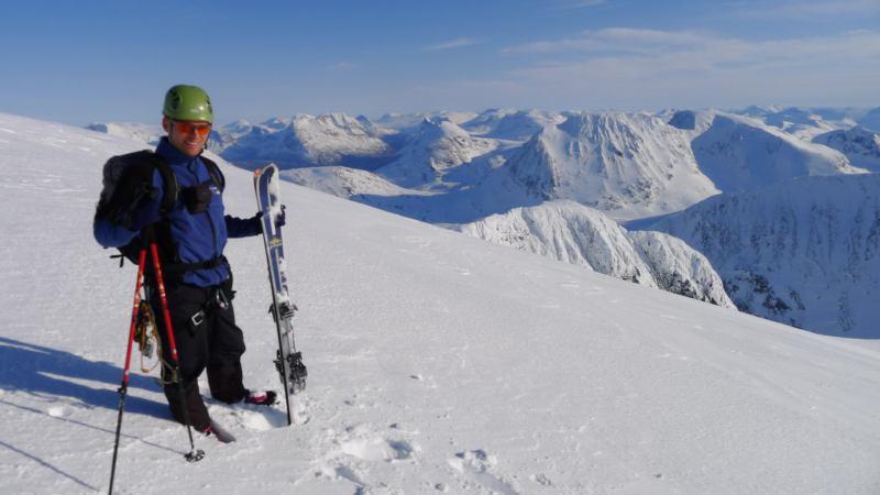 Cris at the top 4 (Langdalstindane, Norway)