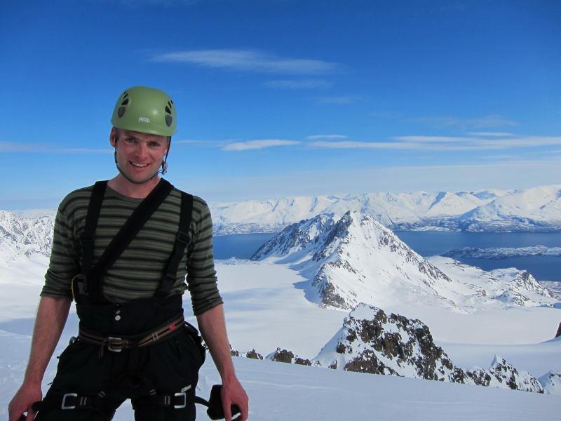 Cris on the summit 2 (Tafeltinden, Norway)