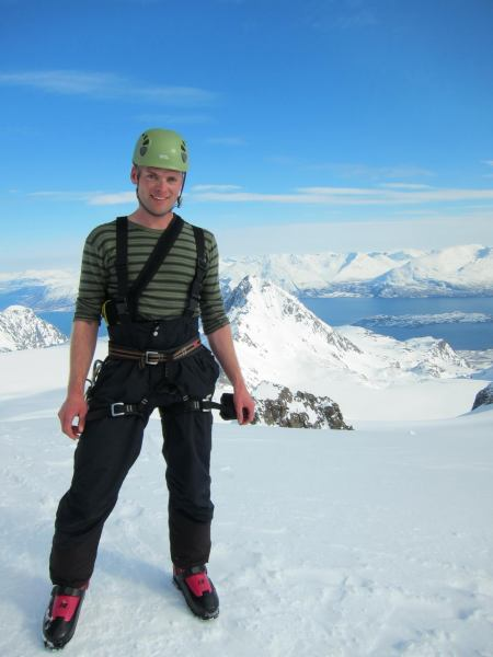 Cris on the summit (Tafeltinden, Norway)