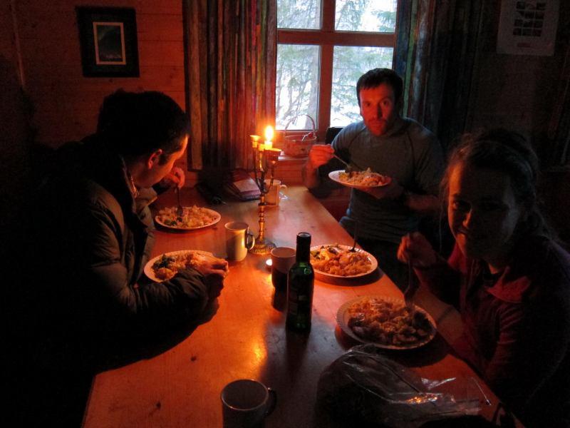 Dinner time (Jaegervasshytta, Norway)