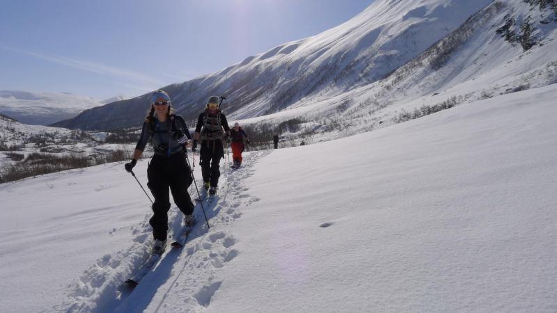 Em, Hallvard, Ally ascending (Daltinden, Norway)