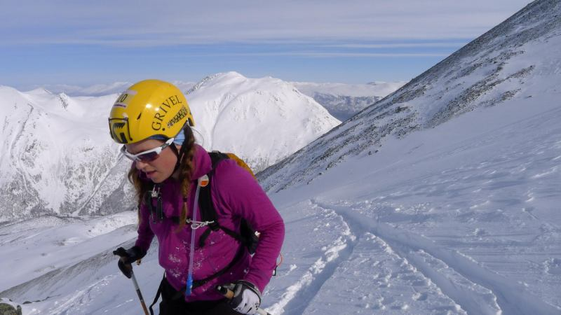 Emily ascending (Daltinden, Norway)
