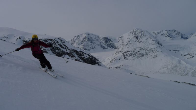Emily descending (Daltinden, Norway)