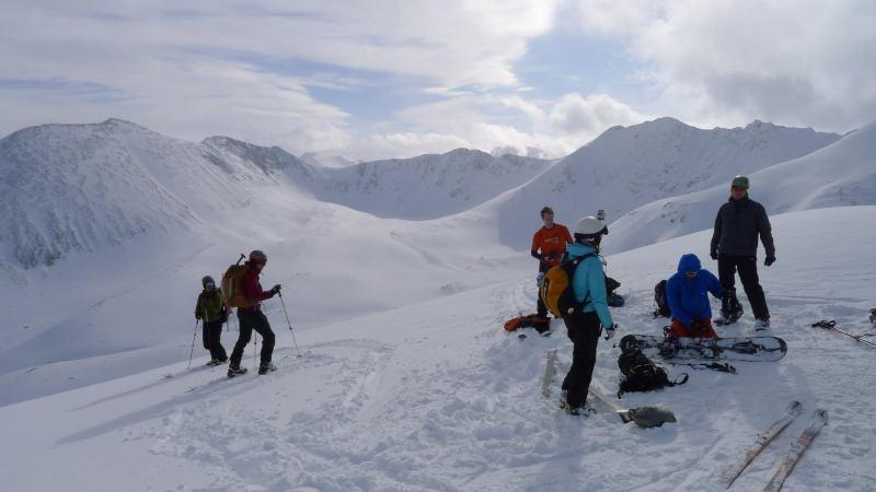 Getting ready to descend (Rørnestinden, Norway)