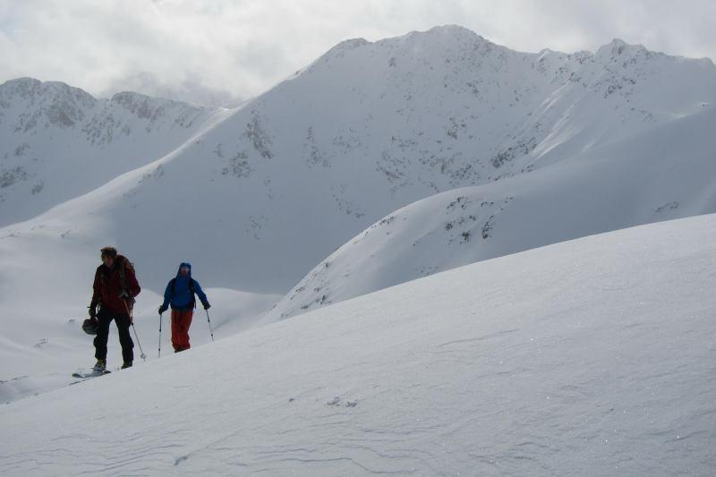 Hallvard and Aly near the summit (Rørnestinden, Norway)