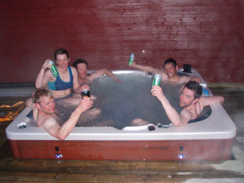 In the hot tub (Koppangen, Lyngen Alps)