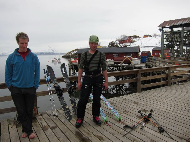 Richard and Cris on the deck (Lyngen Alps, Norway)