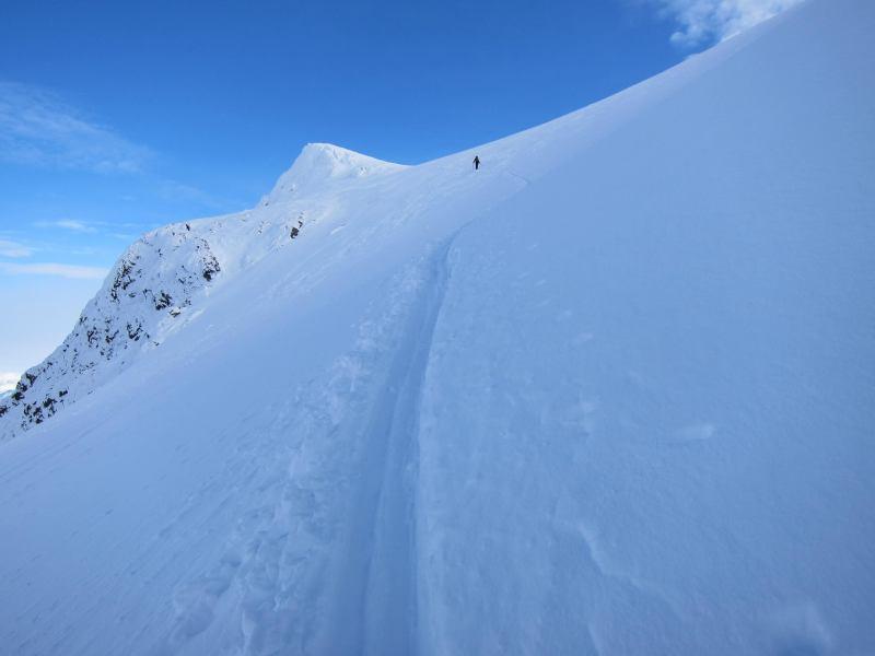 The last push before the summit (Tafeltinden, Norway)