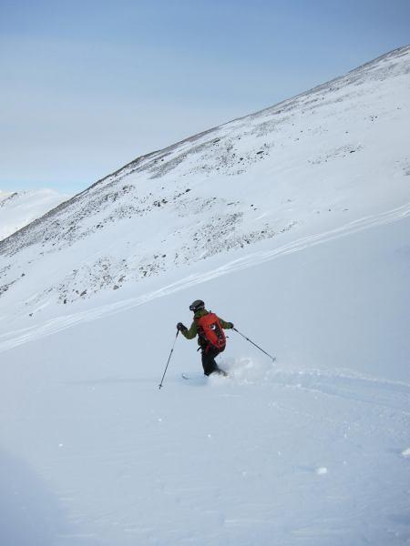 Tim descending (Daltinden, Norway)