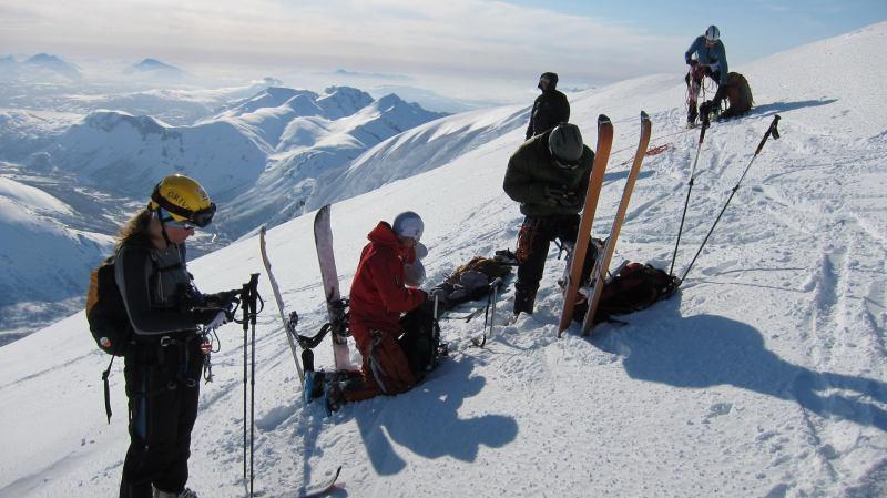 Us at the summit (Langdalstindane, Norway)