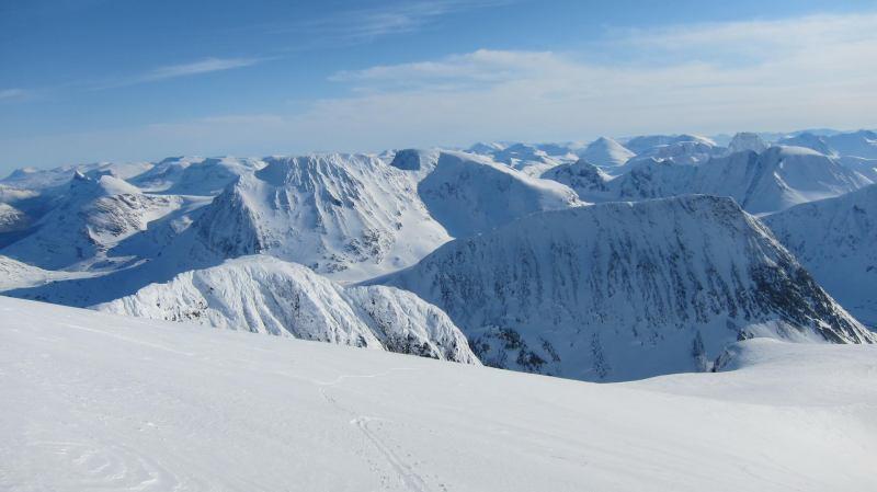 View from summit 2 (Langdalstindane, Norway)