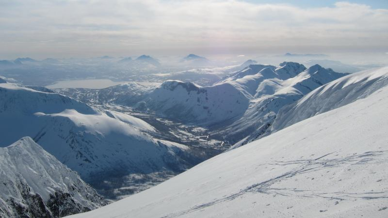 View from summit 3 (Langdalstindane, Norway)