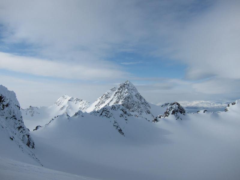 View from the summit (Tafeltinden, Norway)