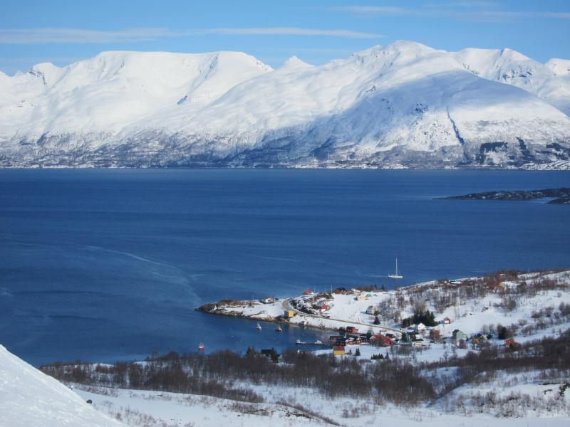 View towards the lodge 2 (Tafeltinden, Norway)