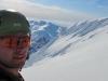 Cris at the summit (Langdalstindane, Norway)