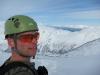 Cris with fiords behind 2 (Daltinden, Norway)