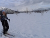 Emily on skis (Rørnestinden, Norway)
