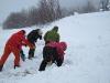Shoveling snow (Tomakdalen, Norway)