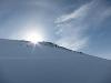 Sun above mountain (Daltinden, Norway)