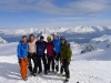 The crew on the summit (Tafeltinden, Norway)