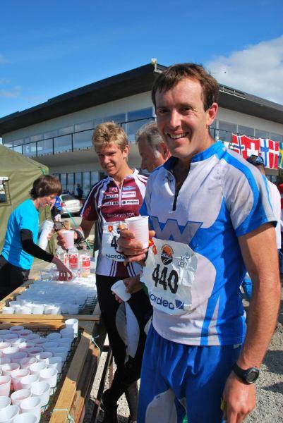 Chris after finishing (Midtnattsolgaloppen 2009)