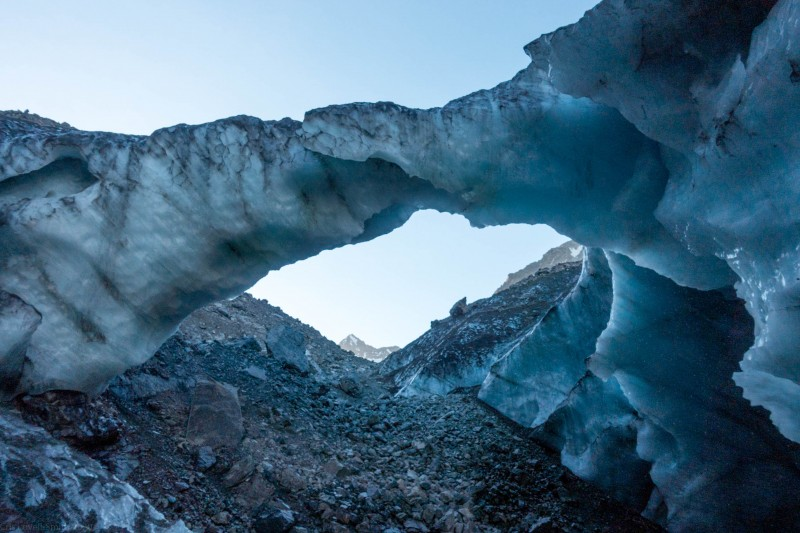 Amazing ice arch (Mountain rafting Dec 2018)