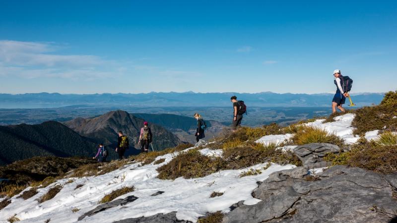Descending (Walk up Mt Arthur July 2021)