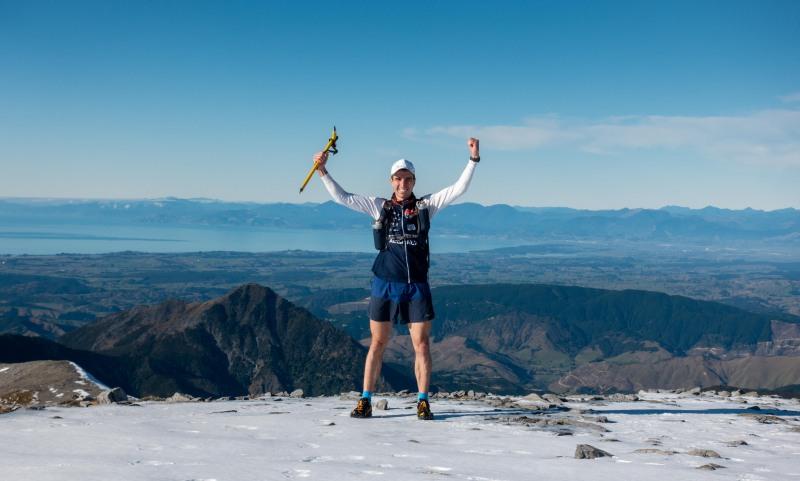 Matt is victorious (Walk up Mt Arthur July 2021)