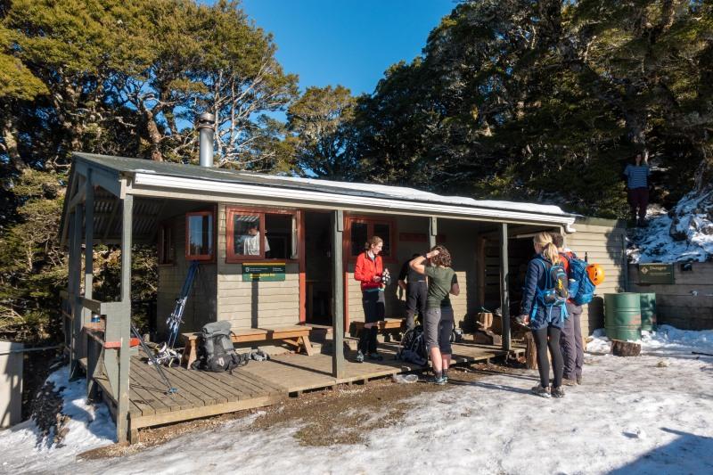 Mt Arthur Hut (Walk up Mt Arthur July 2021)