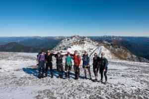Us at the top (Walk up Mt Arthur July 2021)