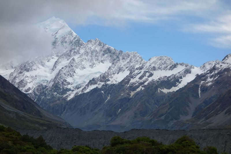 Mt Cook with some cloud (Mueller Hut Jan 2014)