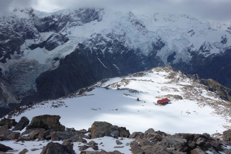 Mueller Hut from above (Mueller Hut Jan 2014)