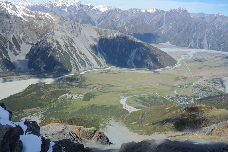 View down towards Mt Cook Village (Mueller Hut Jan 2014)