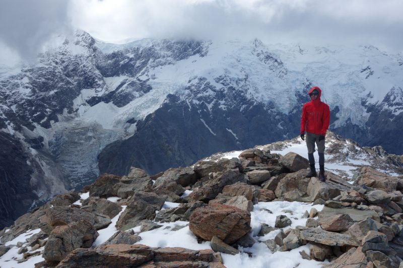 William and rocks (Mueller Hut Jan 2014)