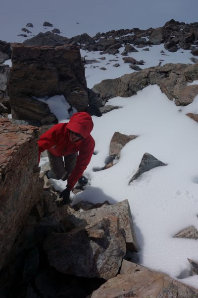 William climbing (Mueller Hut Jan 2014)