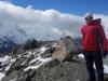 Cris on the ridge (Mueller Hut Jan 2014)