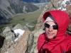 Cris on the ridge to Mt Ollivier 2 (Mueller Hut Jan 2014)