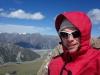 Cris on the ridge to Mt Ollivier (Mueller Hut Jan 2014)